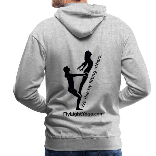 AcroYoga: We rise by lifting others. - Men's Premium Hoodie