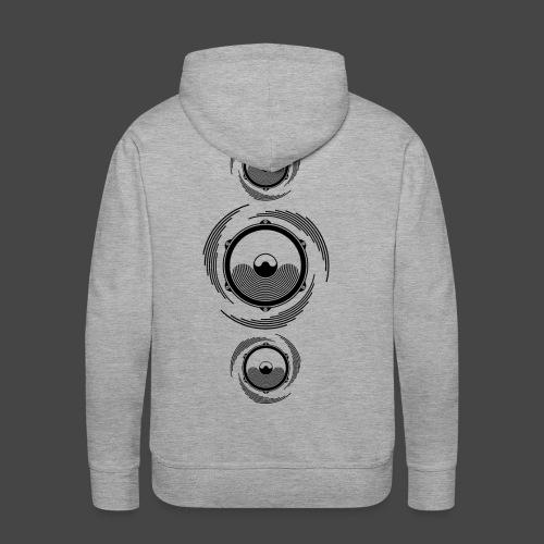Haut-parleur Noir Spirale - Sweat-shirt à capuche Premium pour hommes