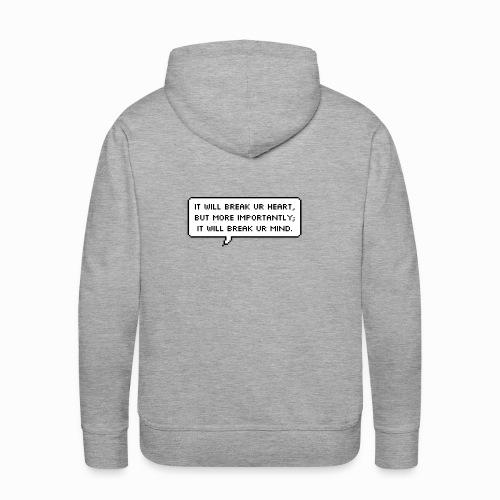 Inspiring sentence - Sweat-shirt à capuche Premium pour hommes