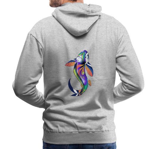 Regenbogen Fisch - Männer Premium Hoodie