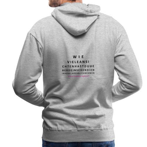 Sehtafel - Männer Premium Hoodie