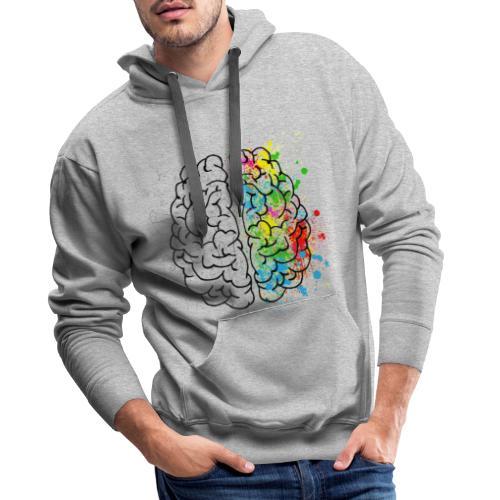 Mózg Matematyka - Bluza męska Premium z kapturem