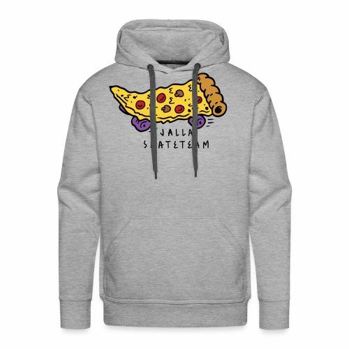 JallaSkateTeam pizza logo - Premium hettegenser for menn