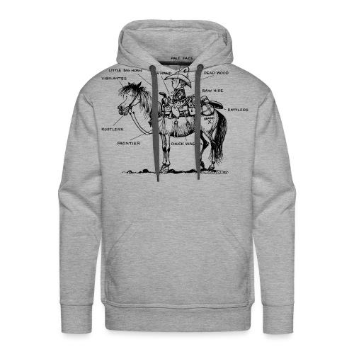 Thelwell Cartoon Bescheribung Westernpferd - Männer Premium Hoodie