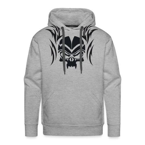 Silhouette Skull & Maori Flame - Men's Premium Hoodie