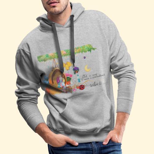 Tout à coup, le temps a considérablement ralenti - Sweat-shirt à capuche Premium pour hommes