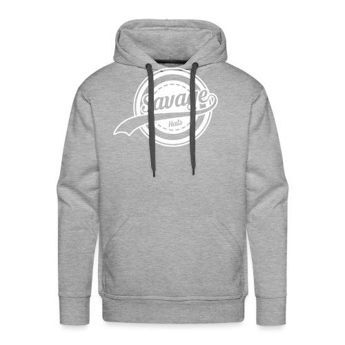 Savage Hals White Logo - Men's Premium Hoodie