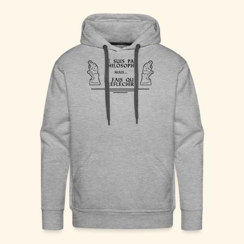 Le Penseur - Sweat-shirt à capuche Premium pour hommes