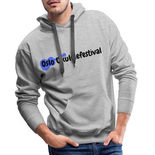 Oslo Ukulelefestival blå logo - Premium hettegenser for menn