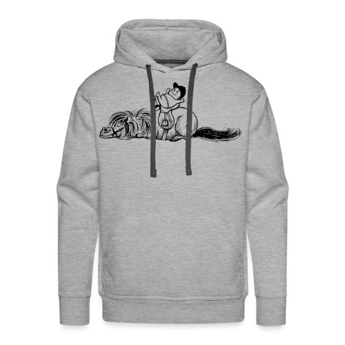 Thelwell Pony und Reiter schlafen - Männer Premium Hoodie