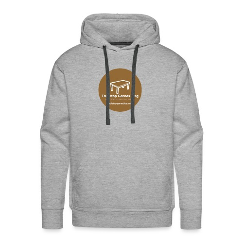 Circle Logo Brown - Men's Premium Hoodie