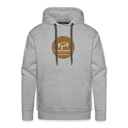 Circle Logo Brown - Men's Premium Hoodie
