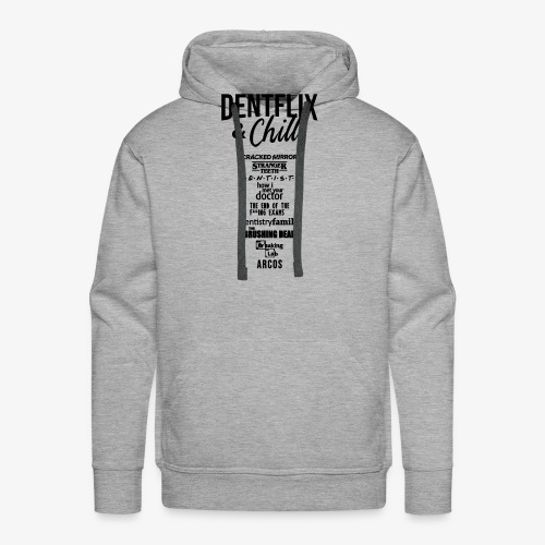 Dentflix + series - Sudadera con capucha premium para hombre