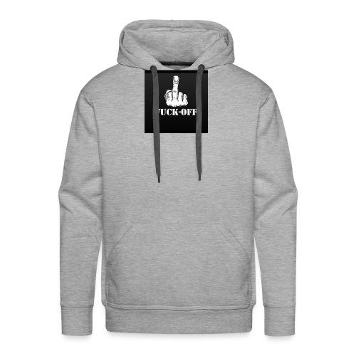 fuck off rugzak - Mannen Premium hoodie