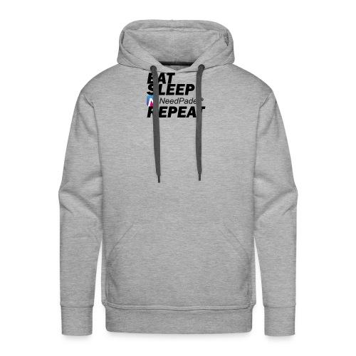 Eat Sleep Repeat - Sweat-shirt à capuche Premium pour hommes