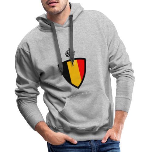 Koninkrijk belgië schild - Sweat-shirt à capuche Premium pour hommes