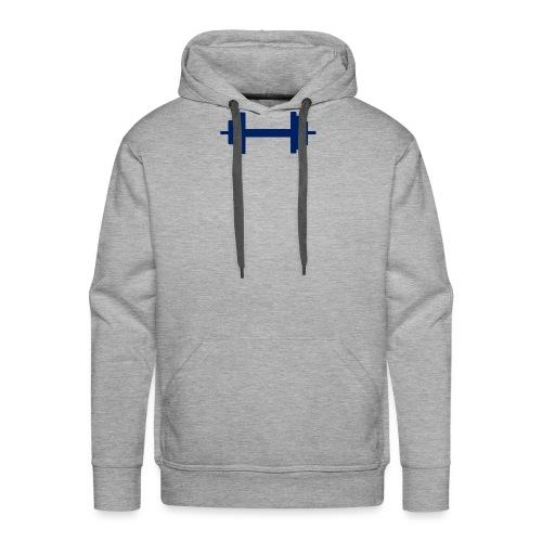 Hantel blau - Männer Premium Hoodie