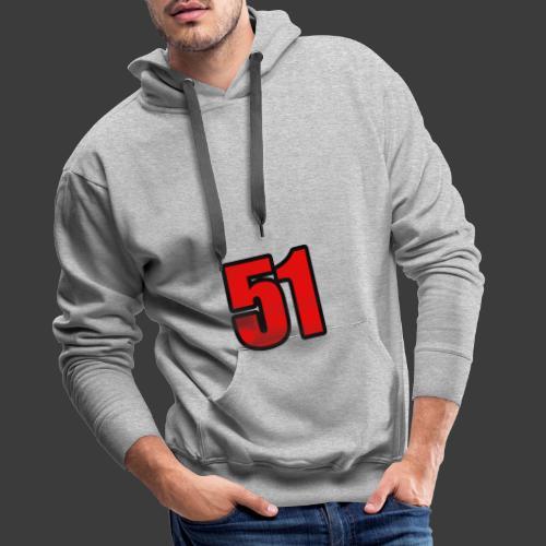 51 - Herre Premium hættetrøje