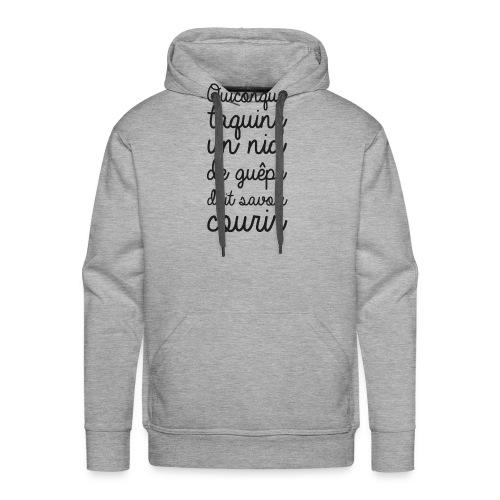 Humour noir et blanc Les guêpes - Sweat-shirt à capuche Premium pour hommes