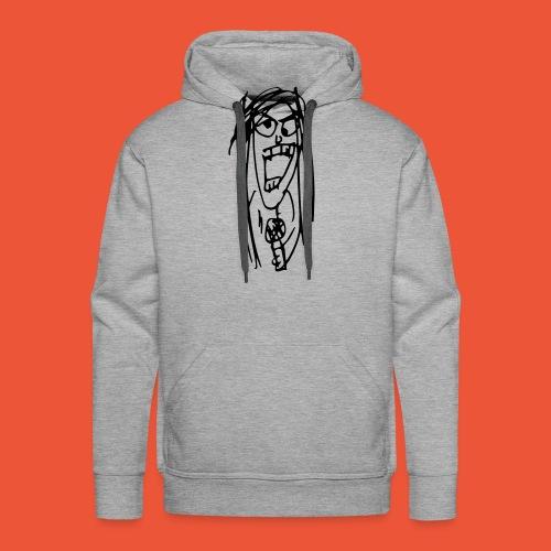 Almost Indie Julia Sketch - Männer Premium Hoodie