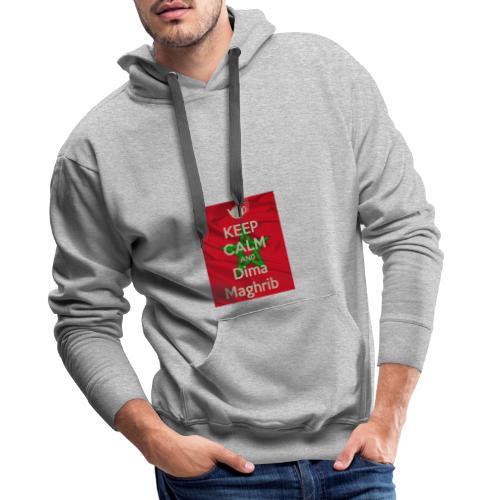 keep calm and dima maghrib - Sweat-shirt à capuche Premium pour hommes