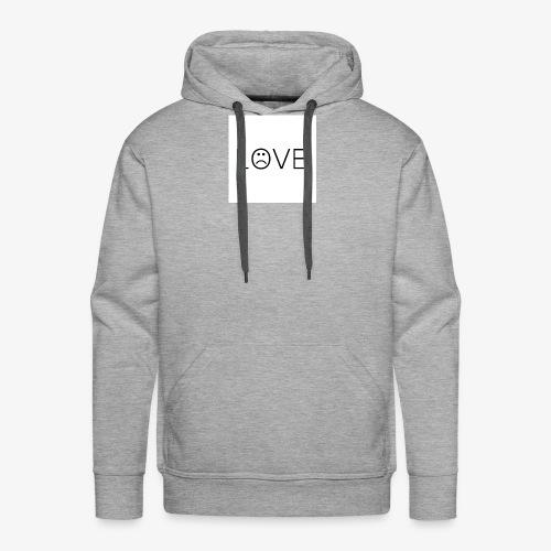 love - Bluza męska Premium z kapturem