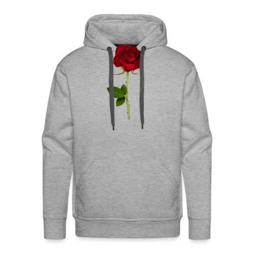 Rød Rose - Herre Premium hættetrøje