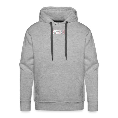 CYBORG_3D_BARRE - Sweat-shirt à capuche Premium pour hommes