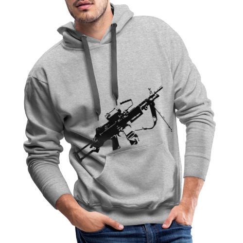 FN Minimi Para machine gun M249 SAW Kulspruta 90 - Premiumluvtröja herr