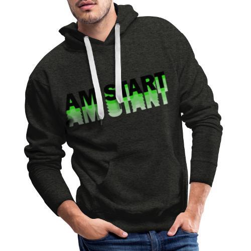 am Start - grün schwarz faded - Männer Premium Hoodie