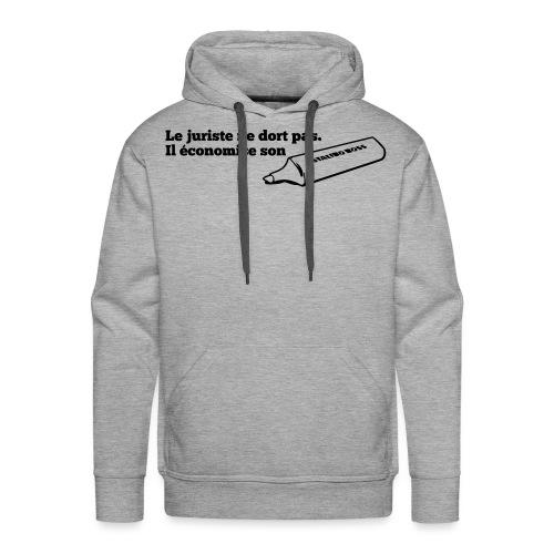motif stabilo - Sweat-shirt à capuche Premium pour hommes