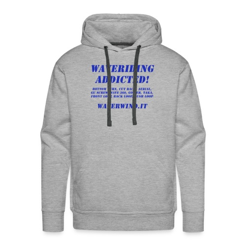 waveriding add blue - Men's Premium Hoodie