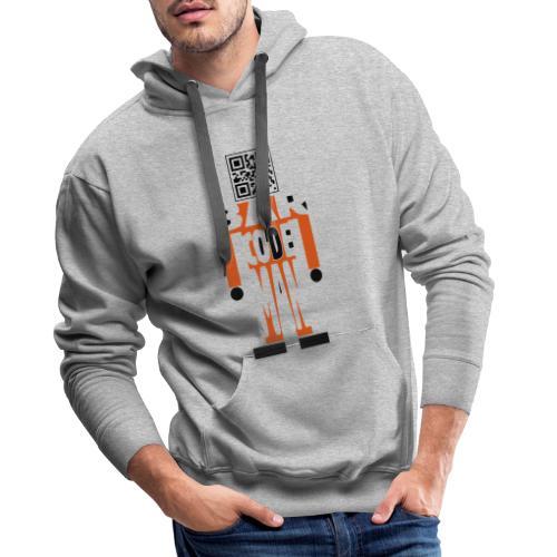 Barcodeman - Männer Premium Hoodie