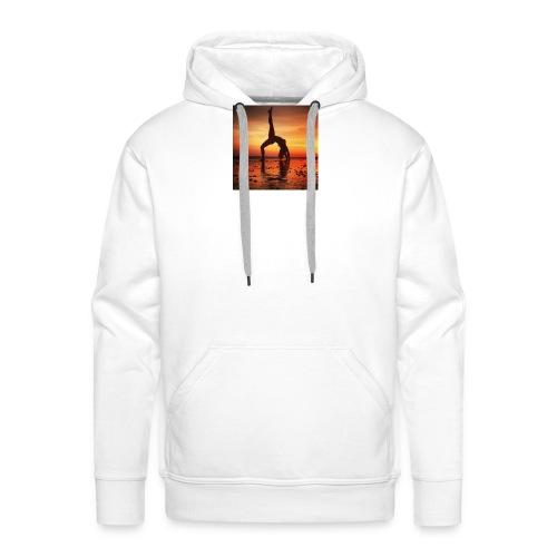 pet yoga - Mannen Premium hoodie