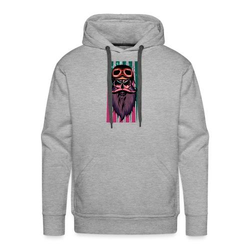 tete de mort hipster crane slull barbe moustache p - Sweat-shirt à capuche Premium pour hommes