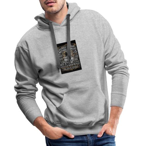 Johnny hallyday diamant peinture Superstar chanteu - Sweat-shirt à capuche Premium pour hommes
