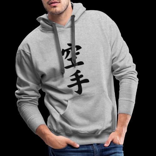 karate - Bluza męska Premium z kapturem