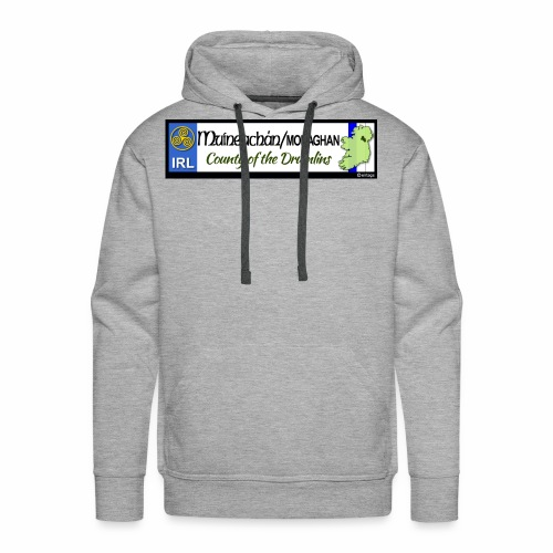 MONAGHAN, IRELAND: licence plate tag style decal - Men's Premium Hoodie