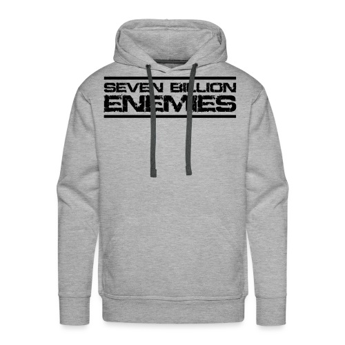 Seven Billion Enemies - NOIR - Sweat-shirt à capuche Premium pour hommes