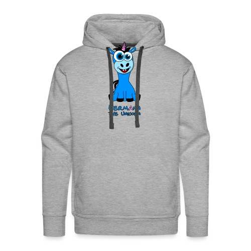 Hermann the Unicorn front - Männer Premium Hoodie