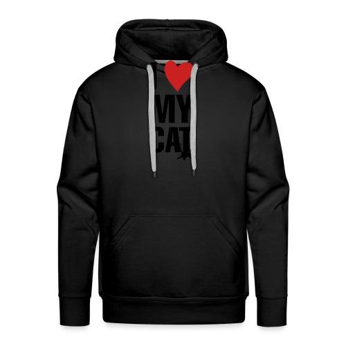 I_LOVE_MY_CAT-png - Sudadera con capucha premium para hombre