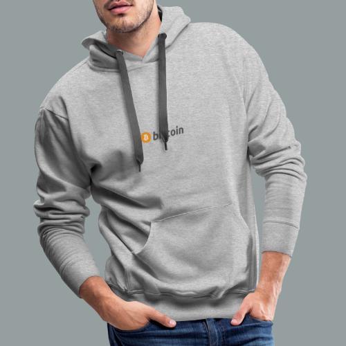 Bitcoin Logo #BTC - Sudadera con capucha premium para hombre