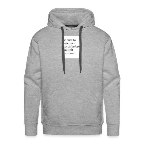 new life quotes - Men's Premium Hoodie