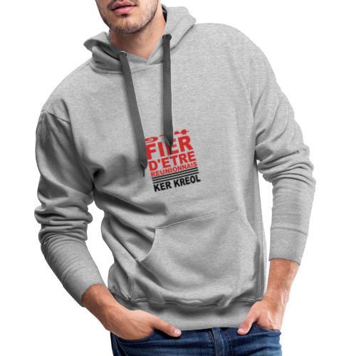 Fier d'etre reunionnais - Sweat-shirt à capuche Premium pour hommes