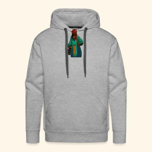 Femme avec sac motif - Sweat-shirt à capuche Premium pour hommes