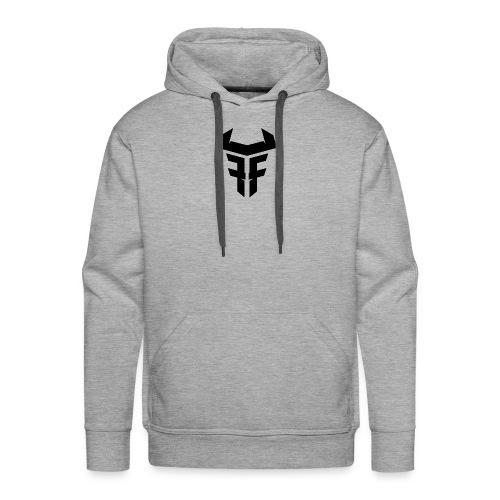 Fit Fight Bull Logo black small - Männer Premium Hoodie