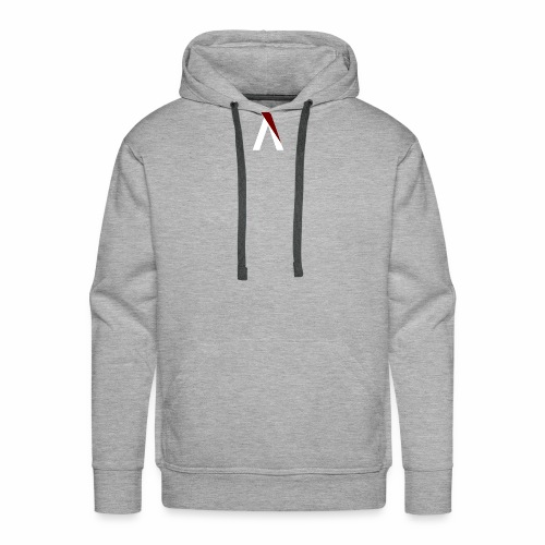 logo aog white and red - Sweat-shirt à capuche Premium pour hommes
