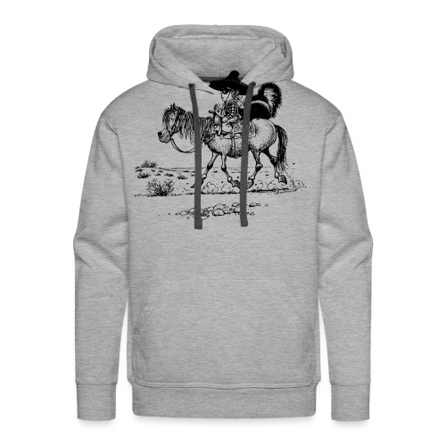 Thelwell 'Cowboy with a skunk' - Men's Premium Hoodie