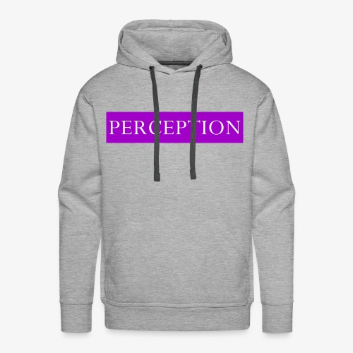 PERCEPTION CLOTHES VIOLET ET BLANC - Sweat-shirt à capuche Premium pour hommes