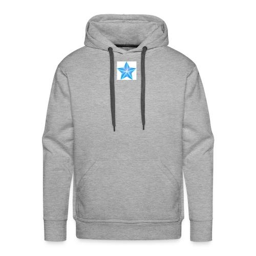blue themed christmas star 0515 1012 0322 4634 SMU - Men's Premium Hoodie